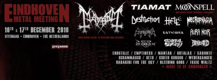 Eindhoven Metal Meeting kondigt nieuwe namen aan!