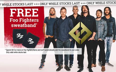 GRATIS Foo Fighters zweetbandje!