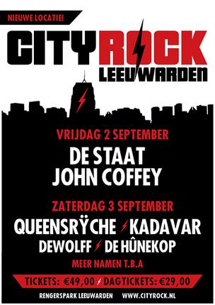 Eerste namen CityRock Leeuwarden 2016 bekend