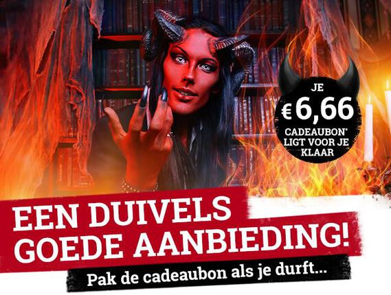 Ontvang tijdelijk een duivelse korting op je bestelling!