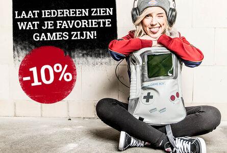 10 % korting op Game merch