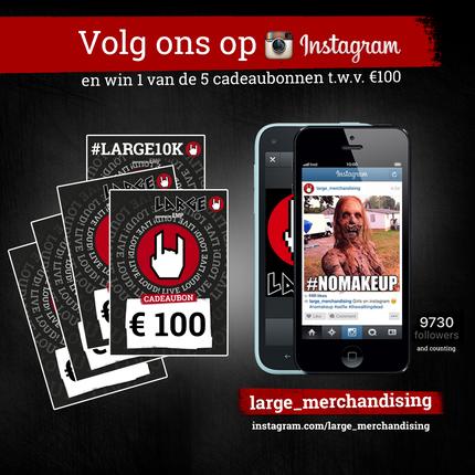 Volg ons op Instagram en maak kans op een cadeaubon