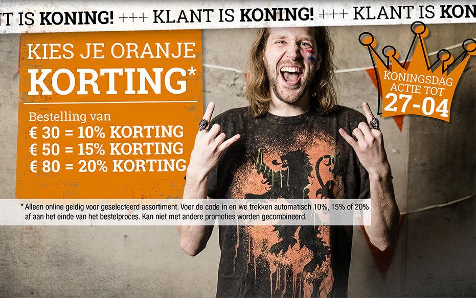 KLANT is KONING - Kies je ORANJE korting!