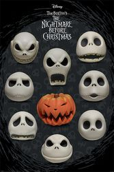Nightmare Before Christmas Many Faces Of Jack