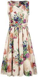 Pleated Multi-Floral Swing Dress