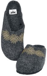 Grey Slippers with Print