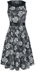 Flashy Rose Swing Dress