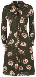 Nora Floral 40s Style Tea Dress