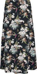 Ladies AOP Flowers Viscose Midi Skirt