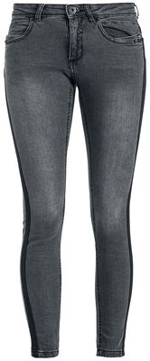 Ladies Jeans Skinny with Rips Tape