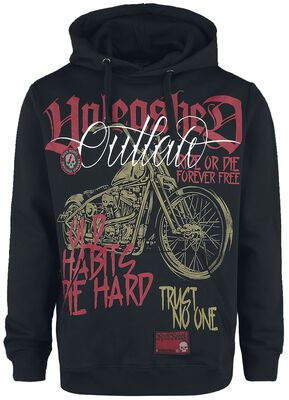 Hoodie with prints and patches