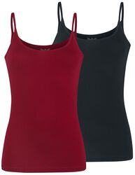 Double Pack Spaghetti-Strap Tops