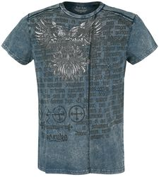 Blue T-shirt with Wash and Print