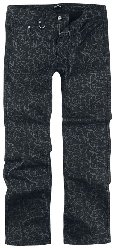Johnny - Black Jeans with All-Over Print