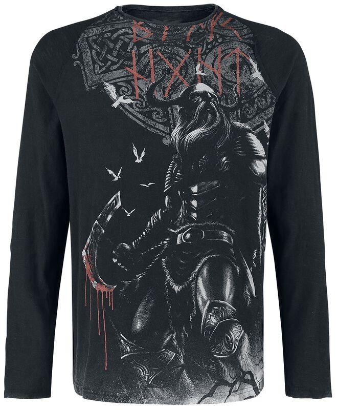 Long-Sleeve Shirt with Viking Print