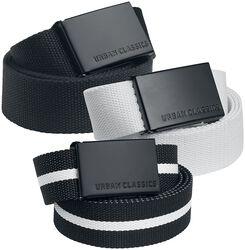 Canvas Belt 3-Pack
