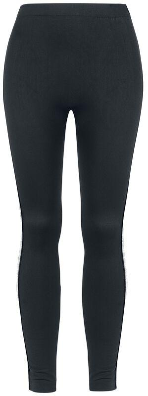 Glitter Stripe Fleece Leggings