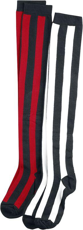 2-Pack of Striped Overknee Socks