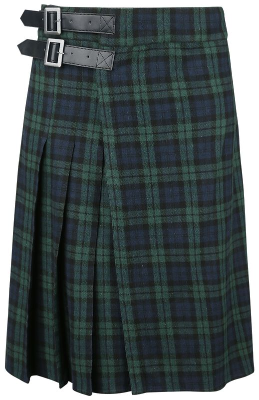 Blue/Green Kilt with Side Buckles