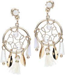 Rosé Dreamcatcher Earrings