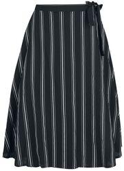 Sailor Stripe Flare Wrap Skirt