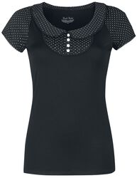 T-shirt with bubic collar and dots