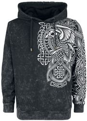 Anthracite Hoodie with Celtic Print