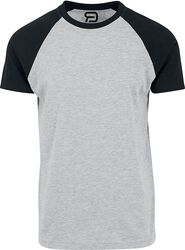 Mottled Grey T-shirt with Black Sleeves