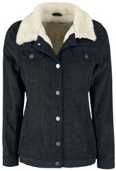 Cord Jacket with Faux Fur Lining