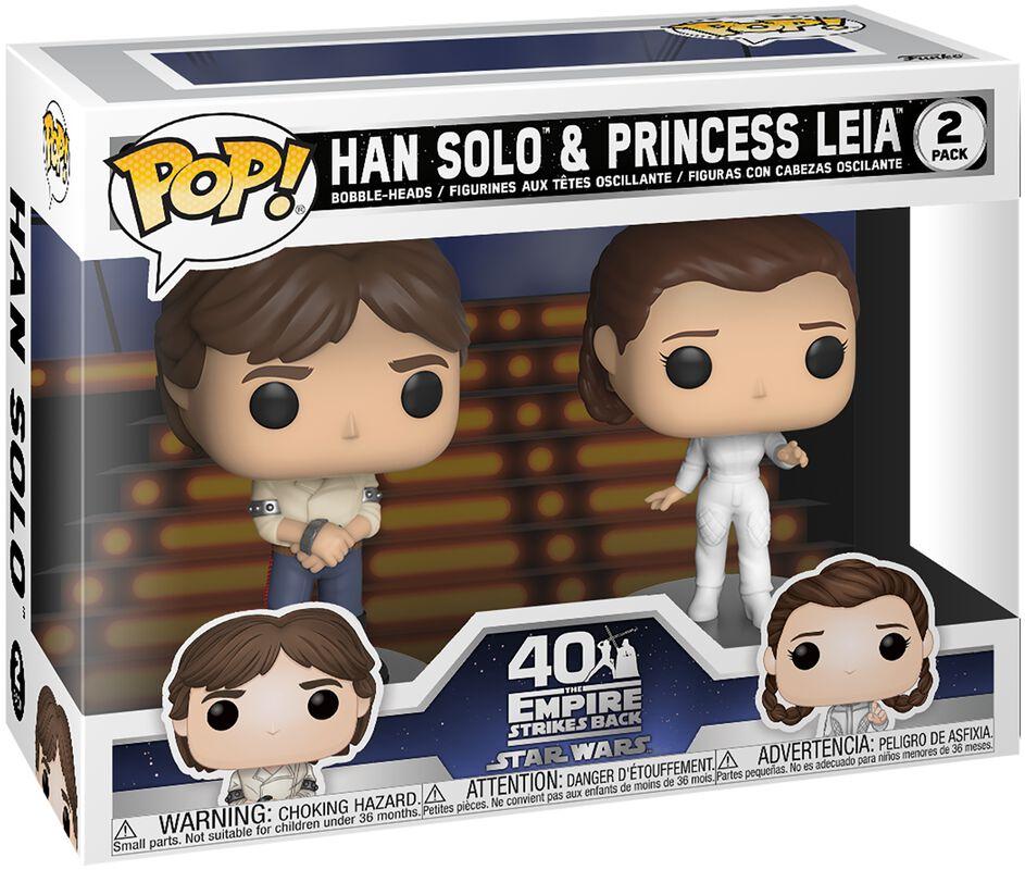 Empire Strikes Back 40th Anniversary - Han Solo & Princess Leia (2 figuren) Vinylfiguur