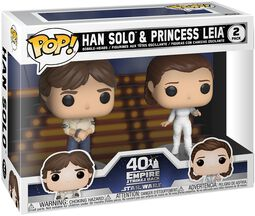 Empire Strikes Back 40th Anniversary - Han Solo & Princess Leia (2 figuren) Vinylfiguur
