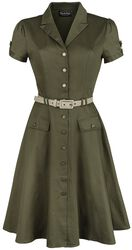 Martha Button Down 40s Flare Dress