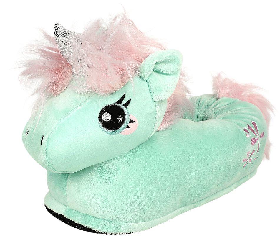 Jade Unicorn Adult Slippers