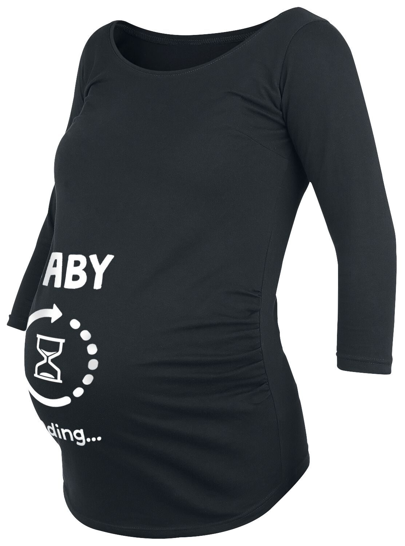 Grappige Zwangerschapskleding.Baby Loading Positiekleding Shirt Met Lange Mouwen Large