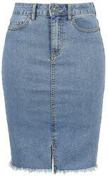 Be Lexi HW MB Denim Pencil Skirt
