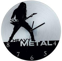 Glazen Wandklok Heavy Metal