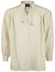 Medieval Lace-Up Shirt met opstaande kraag