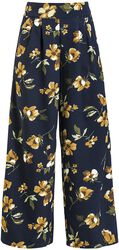 Emilia Yellow Floral Palazzo Pants
