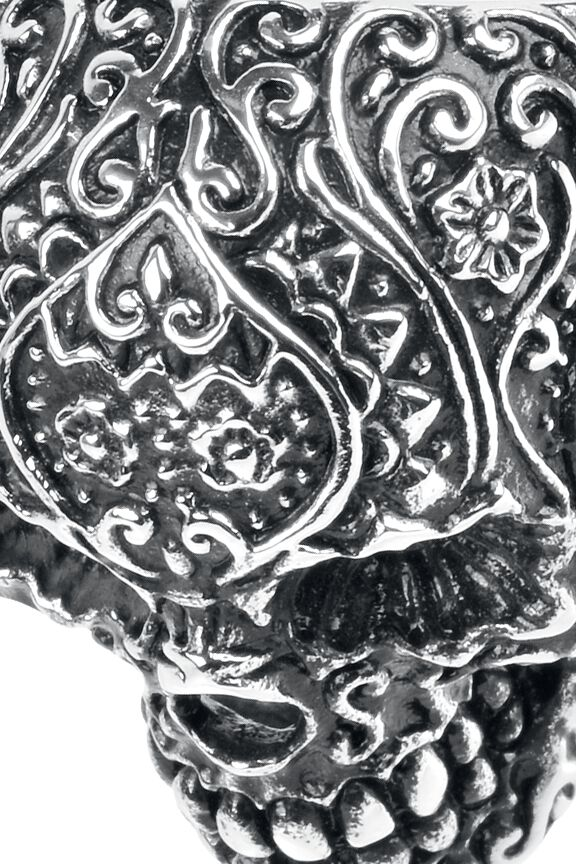Skull Tattoo Wildcat Ring Large