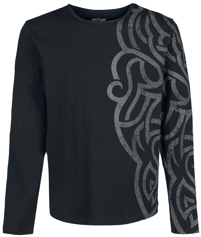 Long-sleeve Shirt with Large Ornamentation