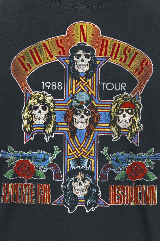 Tour 1988 Guns N Roses T Shirt Large