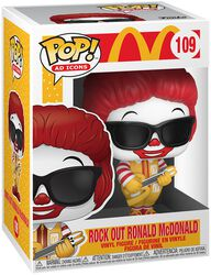 Mc Donalds Rock Out Ronald McDonald Vinyl Figur 109