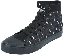 Gothicana X Anne Stokes - Black Sneakers with Print