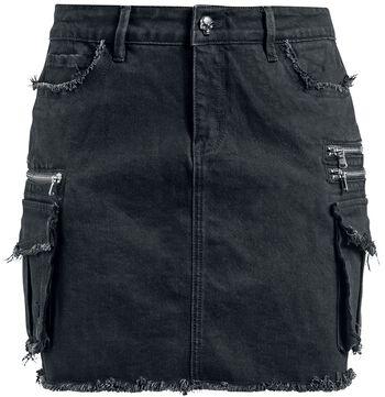 Rock Rebel Black Denim Skirt with Pockets