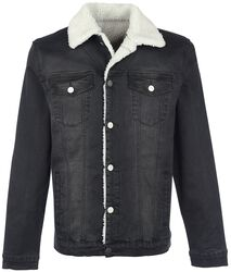 Jeans Jacket with Faux Fur Lining