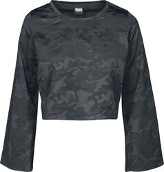 Ladies Short Jacquard Camo Longsleeve