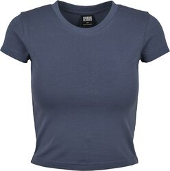 Ladies Stretch Jersey Cropped Tee