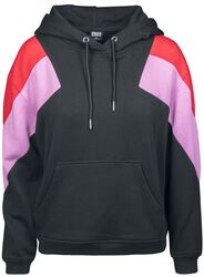 Ladies Oversized 3-Tone Block Hoodie