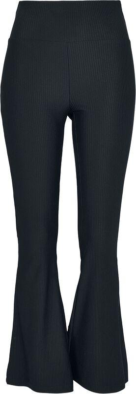 Ladies High Waist Rib Boot Cut Leggings
