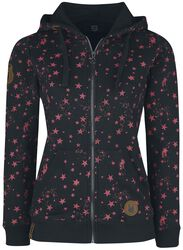 Hooded jacket with star print